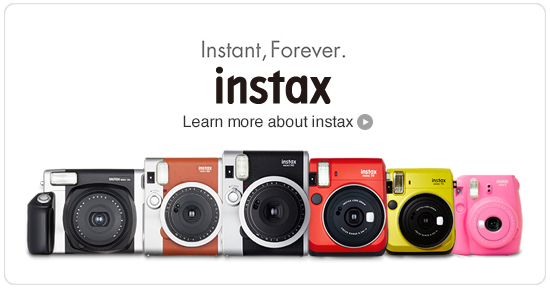 Instant, Forever. instax Learn more about instax