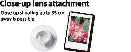 Close-up lens attachment