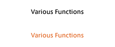 Various Functions
