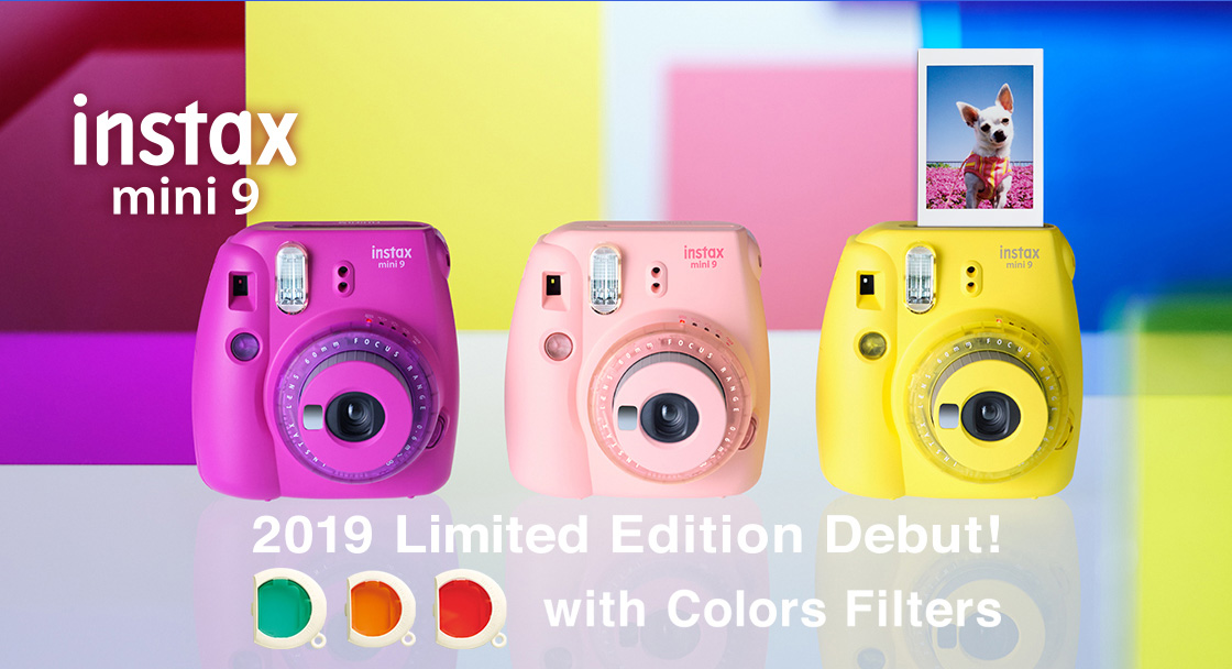 instax mini9 Limited Edition Debut! with Colors Filters